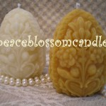 Beeswax Carved Egg Candles
