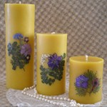 Decorated Beeswax Pillars