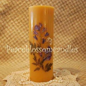Beeswax 9 inch Pillar
