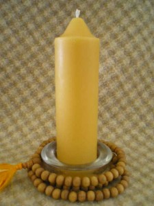 Beeswax Chunky Taper Candle