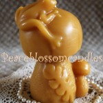 Beeswax Mushroom with Frog Candle