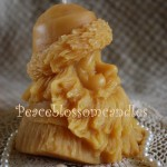 Beeswax Santa Head Candle