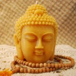 Beeswax Buddha Head Candle