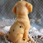 Beeswax Dalmation Candle