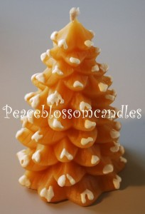 Decorated Beeswax Tree Candle