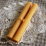 Beeswax Honeybee Tapers