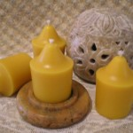 Natural Beeswax Large Votives