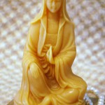 Beeswax Quan Yin Candle