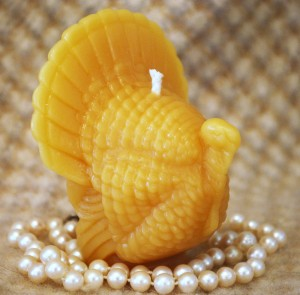 Beeswax Turkey Candle