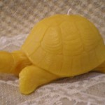 Beeswax Turtle Tortoise Shaped Candle