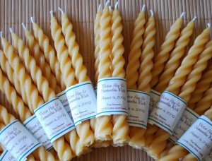 Beeswax Twist Taper Candles