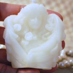 White Beeswax TIny Cupid Candle
