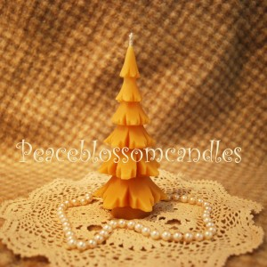 Beeswax Tree Shaped Candle