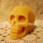 Beeswax Pearl Skull Candle