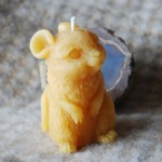 Beeswax Mouse Candle