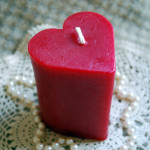 Beeswax Candle RED Heart