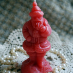 Beeswax Candle RED Santa